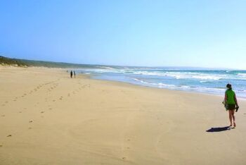 Unspoiled beach at Boggomsbaai, Mossel Bay, Garden Route, Western Cape