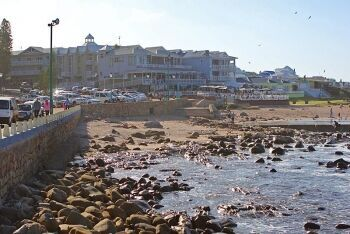Beach access  just to the east of the Mossel Bay Harbour, Mossel Bay, Garden Route, Western Cape