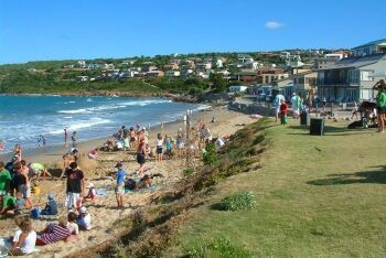 Swimming beach at Vleesbaai, south of Mossel Bay, Garden Route, Western Cape