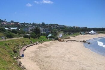 Santos Beach with the Pavilion in the distance, Santos Bay, Mossel Bay