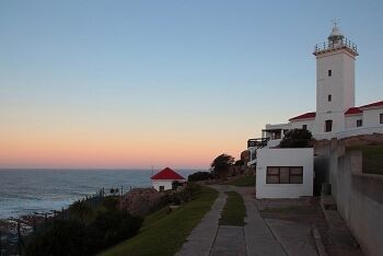 Sundown at the Cape St Blaize Lighthouse Complex, Mossel bay, Garden Route, Western Cape
