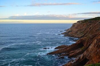 Craggy coastline near the Cape St Blaize Lighthouse Complex, Mossel Bay, Garden Route, Western Cape