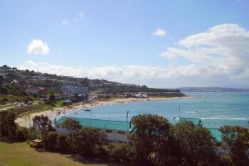 Popular Santos Beach in Mossel Bay, Garden Route, Western Cape